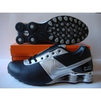 Nike Shox OZ Fashion Black Silver Leather