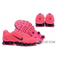 Nike Shox TLX 0018 Women Pink And Black Swoosh For Sale