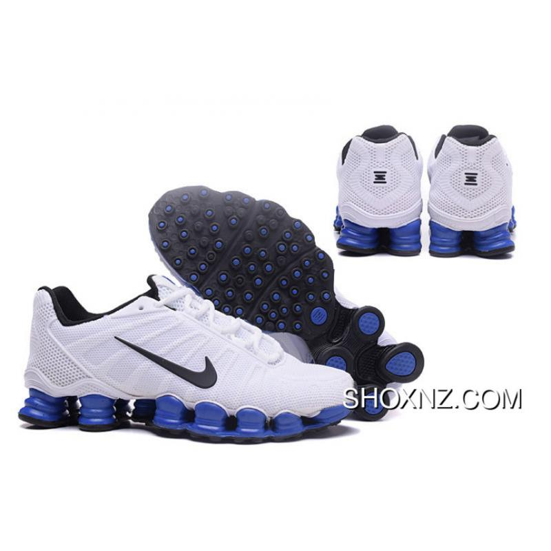 new concept ce410 42c73 Nike Shox TLX 0018 Men White Blue New Style