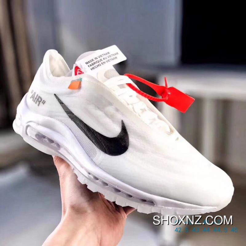 New Release Pt-wwpOFF White X Nike Air Max 97 White Gauze Process Right  Upper High Quality Three Levels Higher Than The Right Shoe Pad Insole  Difference At ... 189cac95e65