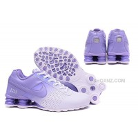 Women Shox Deliver white purple