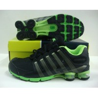 Womens Nike Shox R4 Stripe Black Green