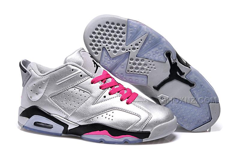 "Air Jordan 6 Retro Low ""Valentines Day"" Silver Pink On Sale"