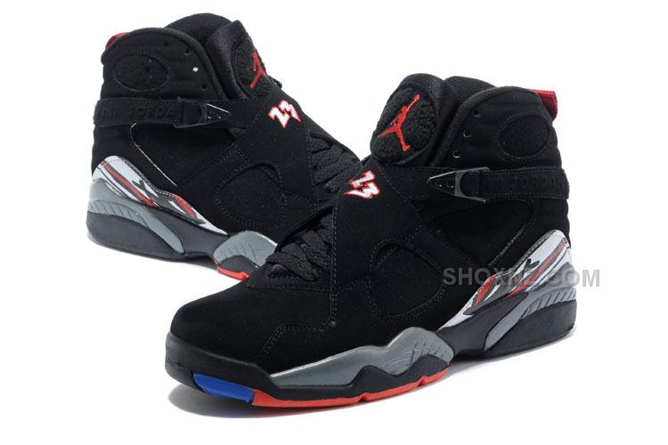 "Air Jordan 8 Retro ""Playoffs"" Black/True Red-White Mens Online Sale"