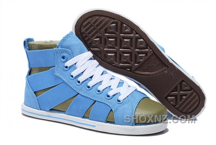CONVERSE Open Toe Elastic Band Summer Light Blue All Star Roman Sandals Nm8kR