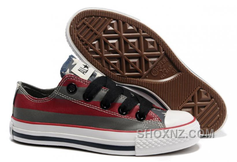 all converse american flag painted grey stripes