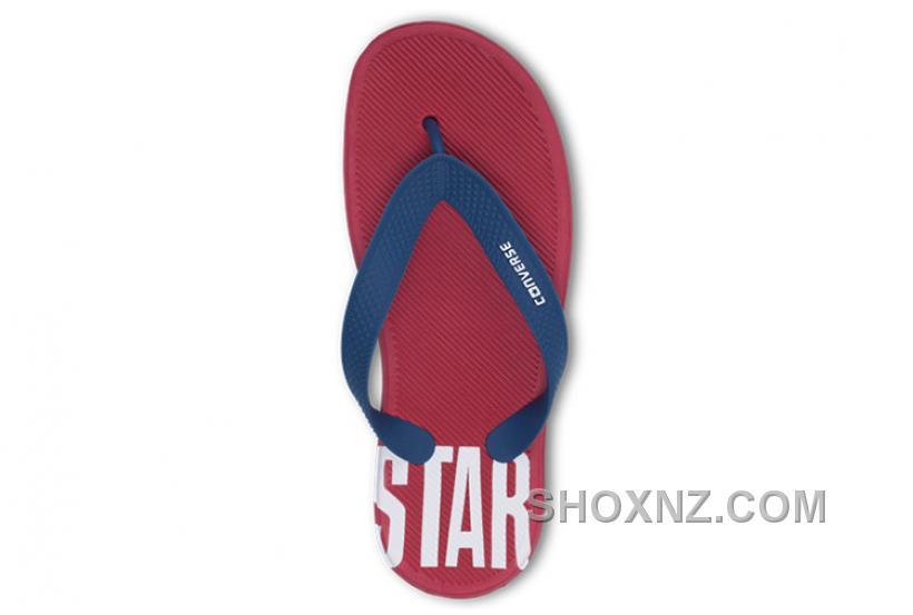 CONVERSE Chuck Taylor All Star Red Blue Flip Flops Slippers Hb3NX