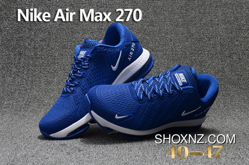 9acd35a193075 Navy Blue White Nike Air Max Flair 270 Nanotechnology PLASTIC Zoom Women  Shoes And Men Shoes