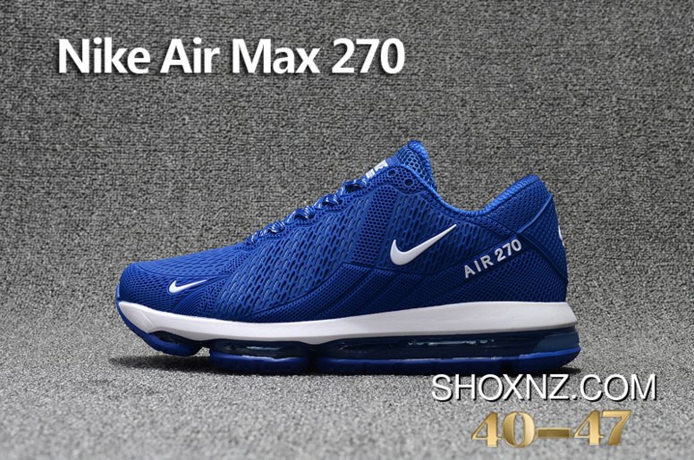 9ac0779f28 Navy Blue White Nike Air Max Flair 270 Nanotechnology PLASTIC Zoom Women Shoes  And Men Shoes