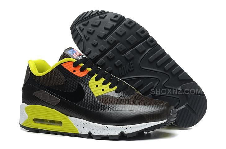 Nike Air Max 90 Hyperfuse QS Mens Shoes Black Hunter Green