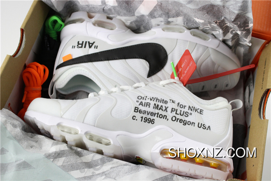 OFF White X Nike Air Max Plus TN Ultra Sneakers White Black AA3827 100