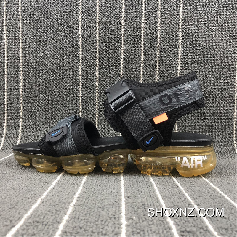 7f85cd7b8c4974 Nike Air VaporMax Sandal X OFF-WHITE 850588-001 Black Best ...