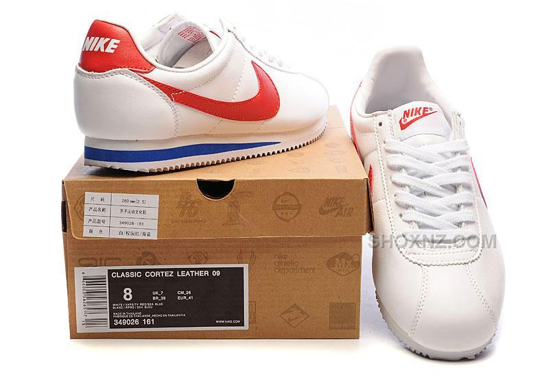 ... Nike Cortez Men Leather Shoes White Red Price 79 00 Shox NZ 553f99333
