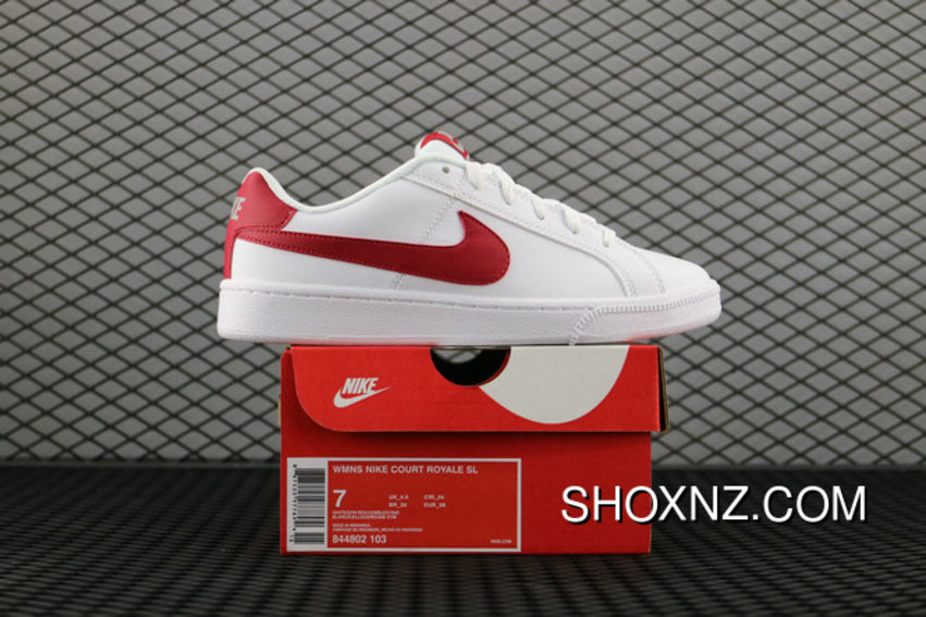 f0f928ee4d80e Nike Court Royale Sl 826670 160 White Gym Red Cobblestone Blanc Cailloux  Rouge Gym 844802 103