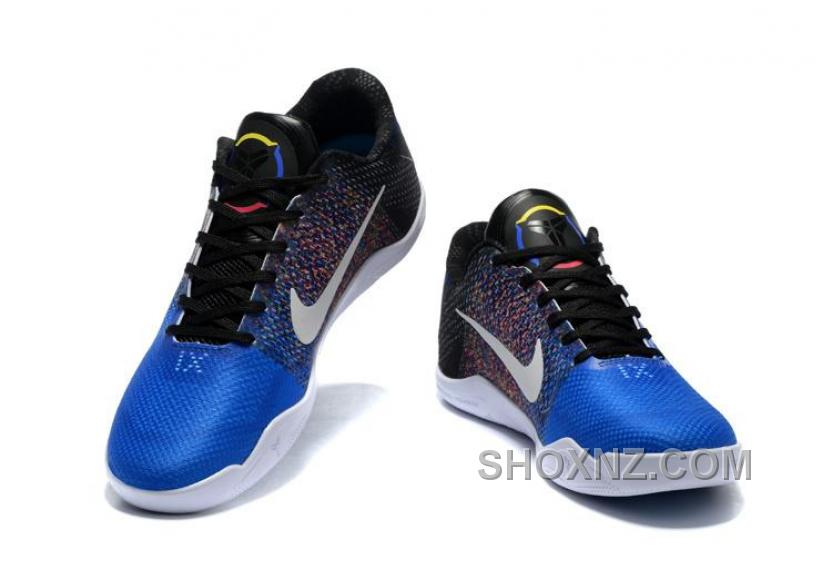 buy online 29efa b1baa 2016 Nike Kobe 11 XI Elite Low Mens Basketball Shoes Blue Black Rainbow