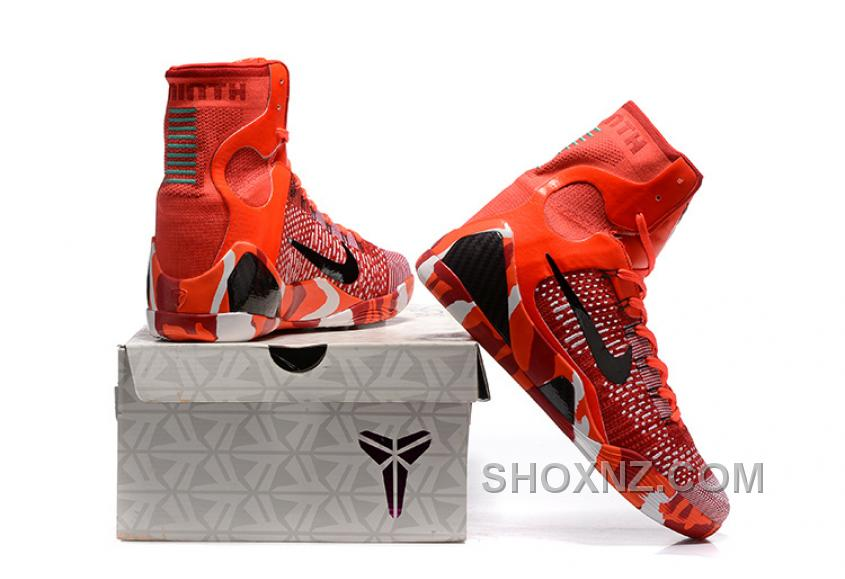 cheap for discount fd781 ecd9d Nike Kobe 9 High Woven Christmas Red 2017 Men Shoes For Sale 4xePrwT
