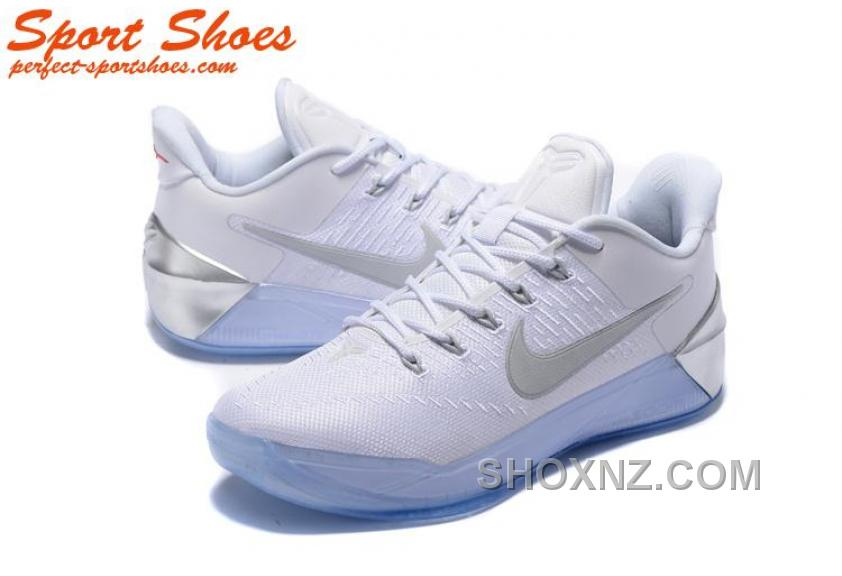 finest selection d7b7f 4162a Nike Kobe A.D. Sneakers For Men Low White Silver New Release NaebyS