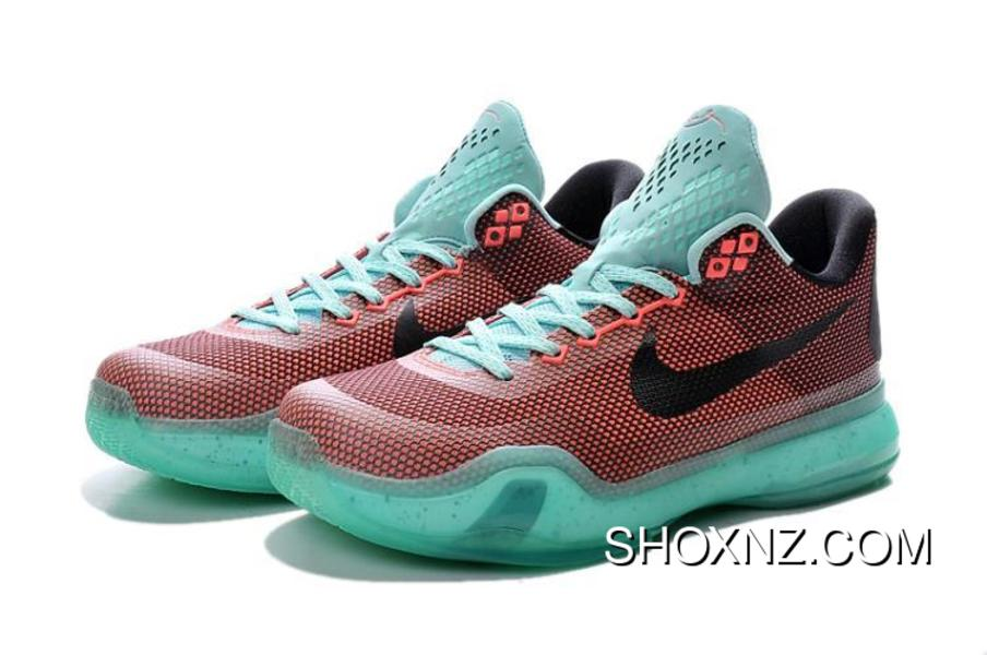 67a539ee7296 Nike Kobe X 745334-808 Easter Red Black Green Mens New Year Deals ...