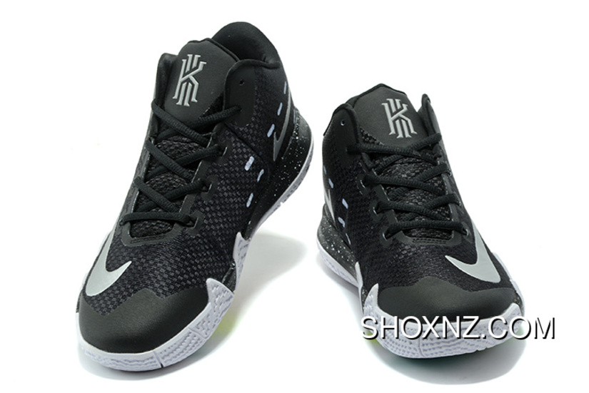 57ab3fb6ddd1 Nike Zoom Kyrie 4 Black White Kyrie Irving 4 Nba Basketball Shoes Top Deals