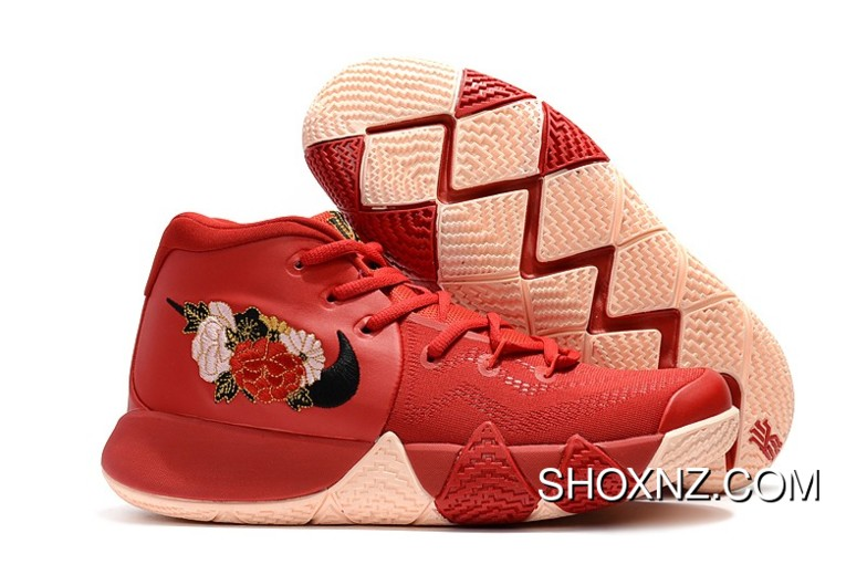 5fd47e75e61c 2018 Floral Nike Kyrie 4 Cny Chinese New Year Red Online
