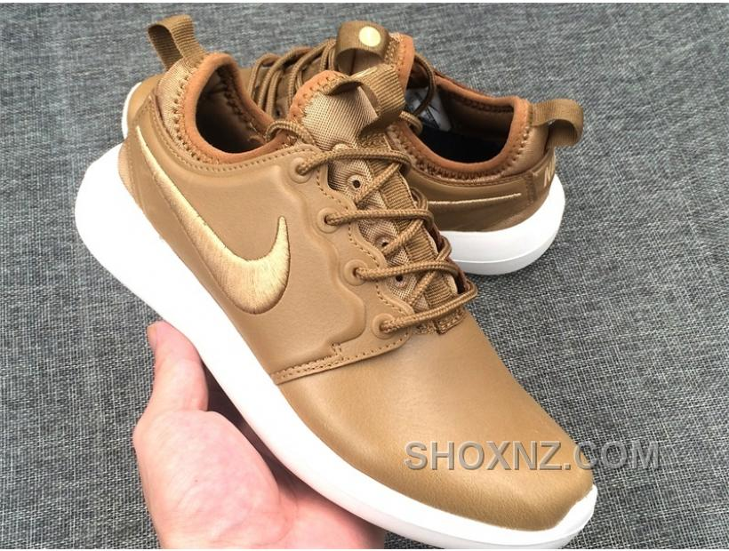 97504b8252a56 ... sale nike lab roshe two leather prm mens womens gold white f2eda 19b5a