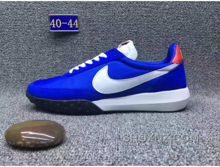2017 Nike Roshe Waffle Racer Suede Nylon Blue Men Cheap To Buy