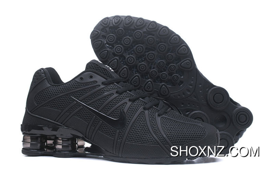 outlet store 59f39 2386e Nike Shox Oz All Black
