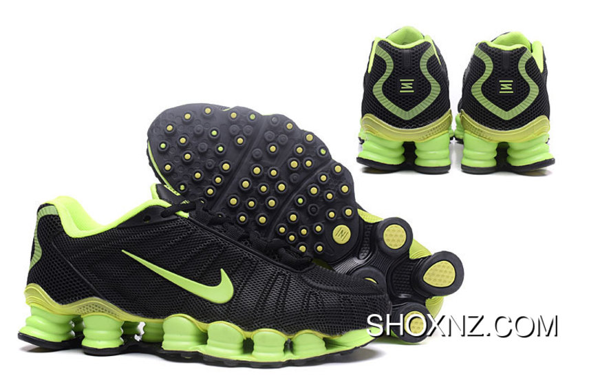 sports shoes a912e 2ab97 Nike Shox TLX 0018 Men Black Green Top Deals, Price: $88.66 - Shox ...