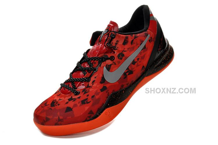 separation shoes df552 95d9f Nike Kobe 8 Shoes-Challenge Red Black