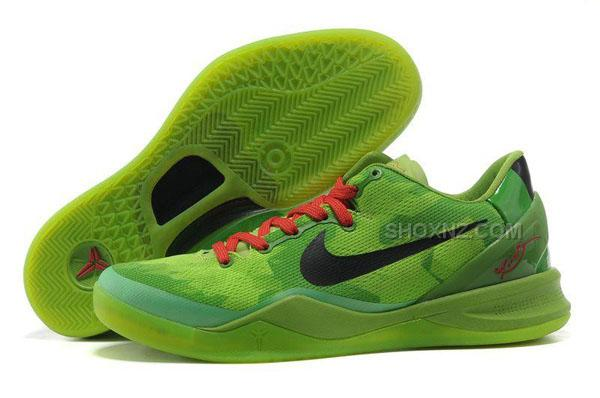 e6aef75cabea czech nike kobe 8 system basketball shoe christmas green black red 4ec7c  16698
