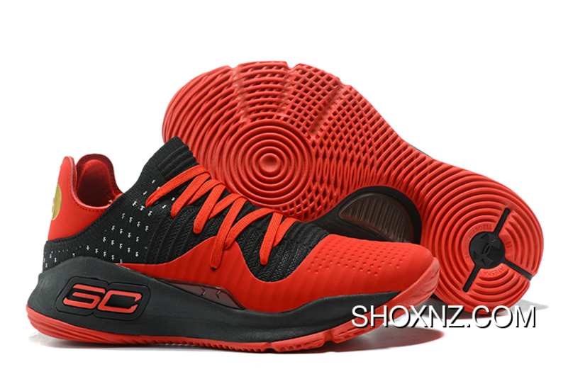 best loved 18f8f de096 Under Armour Curry 4 Low Red Black Latest CjYjMfp