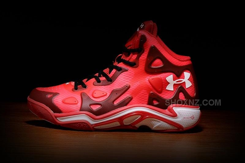 reputable site 3fa2b e6fbc Under Armour Micro G Anatomix Spawn 2 New Red Basketball Shoes