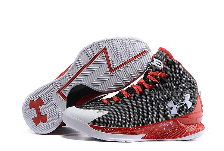 Under Armour UA Curry One 2015 Black Red White Basketball Shoes Sale