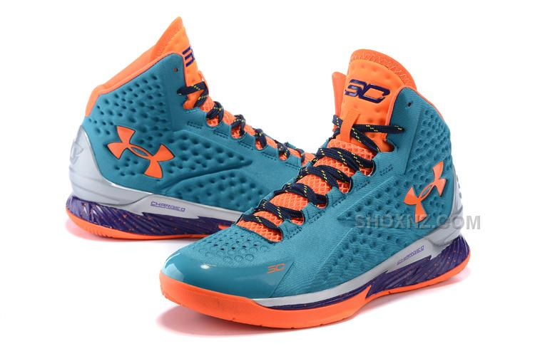 Under Armour UA Curry One Hyper Blue/Purple-Blitz Orange Shoes For Sale