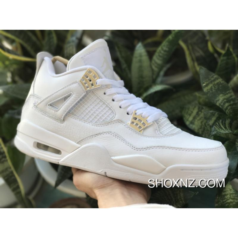 separation shoes fca01 6cf2b AJ4 White Siliver White Cat Pure White Air Jordan 4 Pure Money 308497-100  Discount