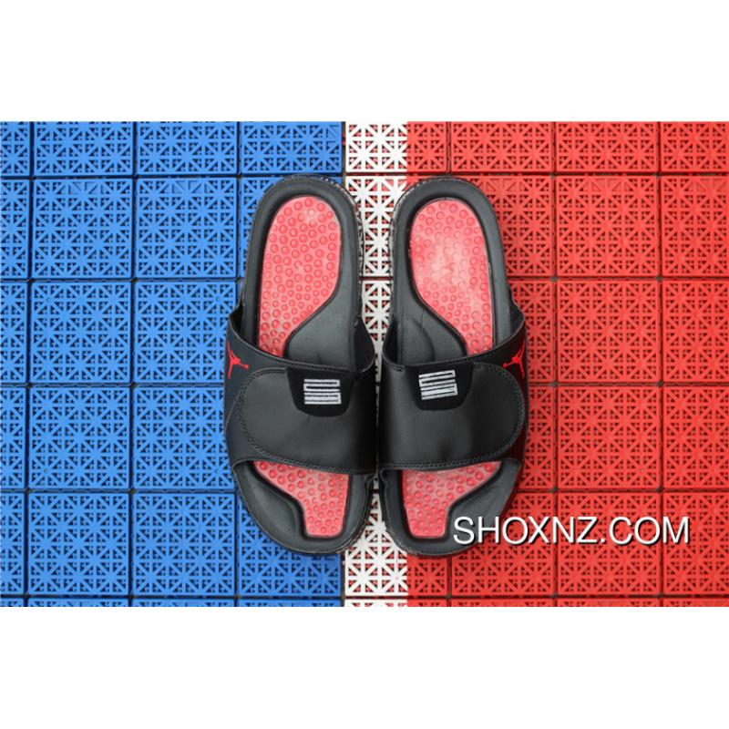 ebe5f8f4b1f4 USD  73.50  227.86. Air Jordan Hydro 13 Sandals Slides Black Red ...