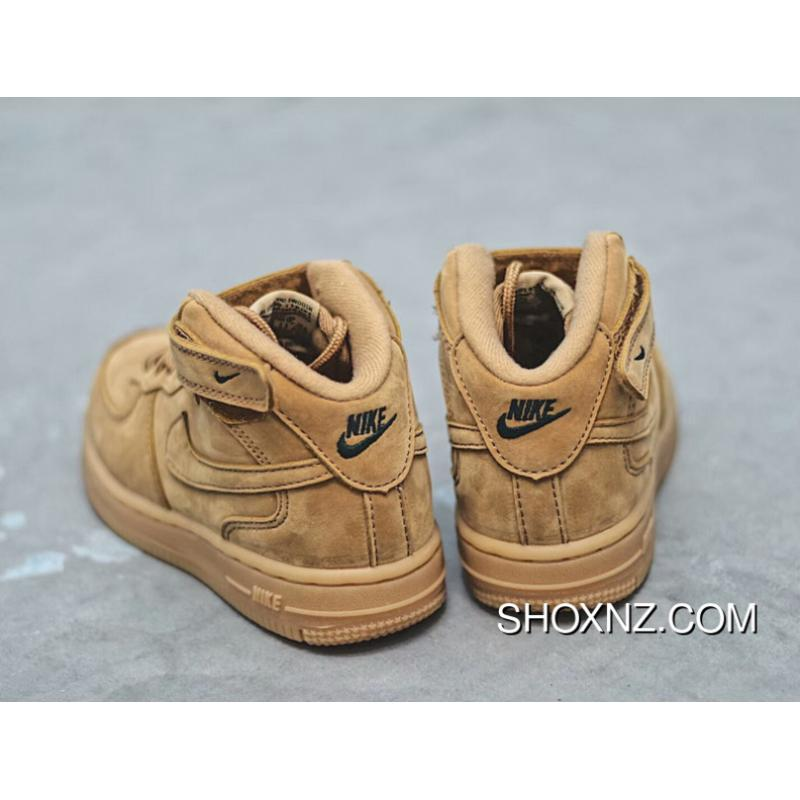 ... Kids NIKE AIR FORCE 1  314197-113 Wheat Yellow 22-35 New Style ... 7a156b0083ee