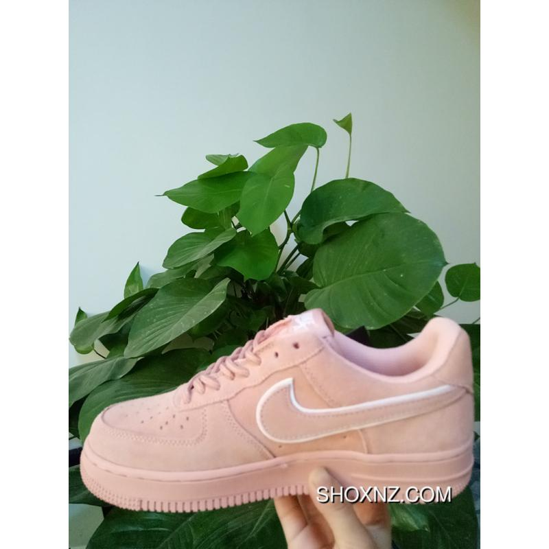5563ea642f5aa1 07 18062 NIKE AIR FORCE 1 Pink Suede Raw Rubber Soled AF1 Casual Sneaker  AA1117- ...