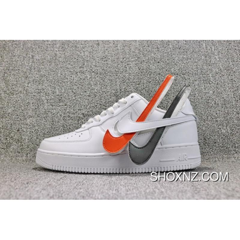50cec6f1736737 Nike Air Force 1 Velcro Swoosh Pack White AH- Best