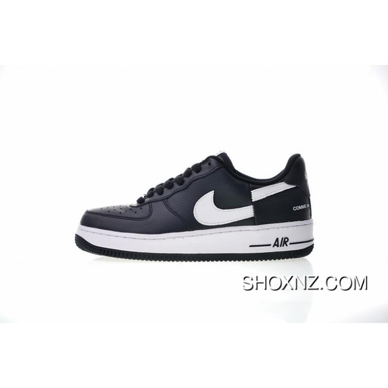 on sale 738ab 0edd8 Upgrade The Super Tripartite Collaboration Forceful Comme Des Garcons X  Nike Air Force 1 Low One Low All-match Sneakers Black WHite Broken Hook ...