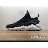new styles 5005d 3fedc Nike Air Huarache Pig Leather Material Running Shoes Black White 829669-662  Best