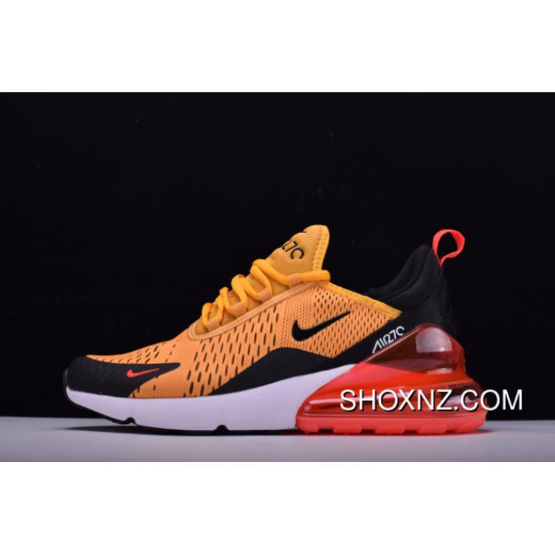 buy popular 457e5 1c4cb Outlet Nike 2018 SS Air Max 270 Series Heel Half-palm Cushion Jogging Shoes  Yellow Black Red White AH8050-706