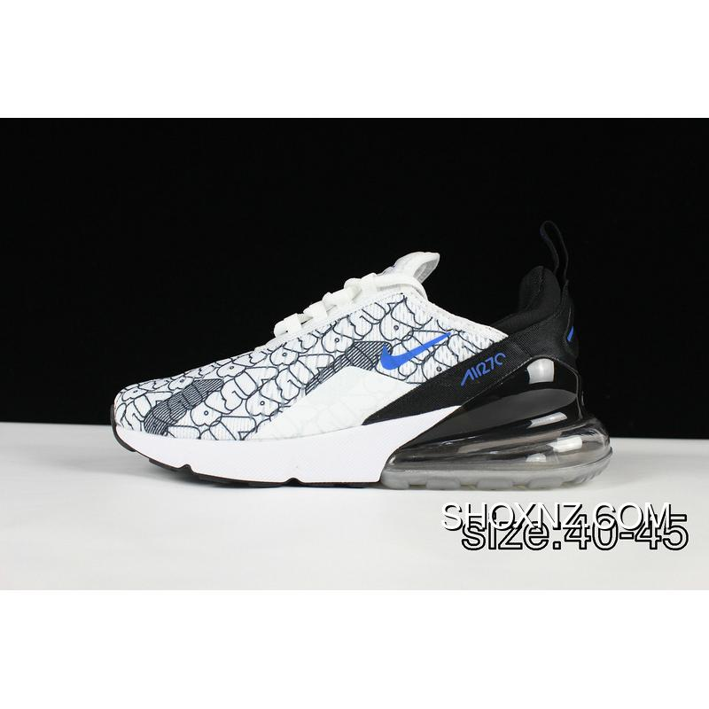 cheap for discount b82e5 09aae The New Color White Black Blue Nike AIR MAX 270 2018 New Men Zoom  Breathable Cushioning Running Shoes New Style