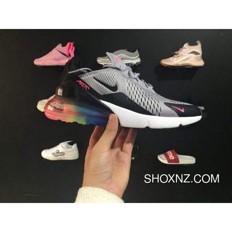 Nike Air Max 270 Be Ture Black And Red Rainbow New Women And