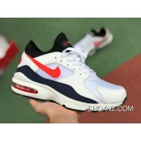 0d4700f9bb Online Max93 White Red Nike Air Max 93 White Red Zoom Running Shoes Height  Increasing 306551