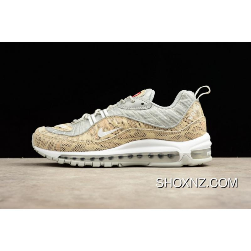 newest 89c5f d03c5 NIKE AIR MAX 98 Snakeskin Yellow 844694-100 Men Shoes New Year Deals