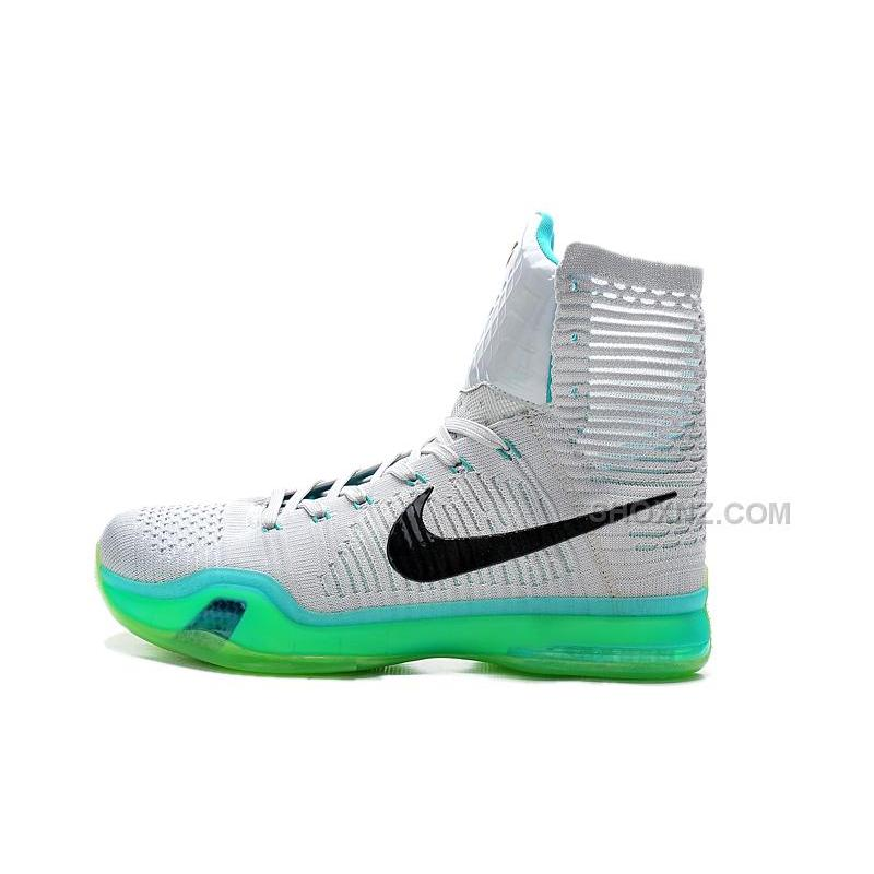 official photos 03f28 264a9 ... Nike Kobe 10 High Top Elite Elevate Wolf Grey White Light Retro Cheap  Sale ...