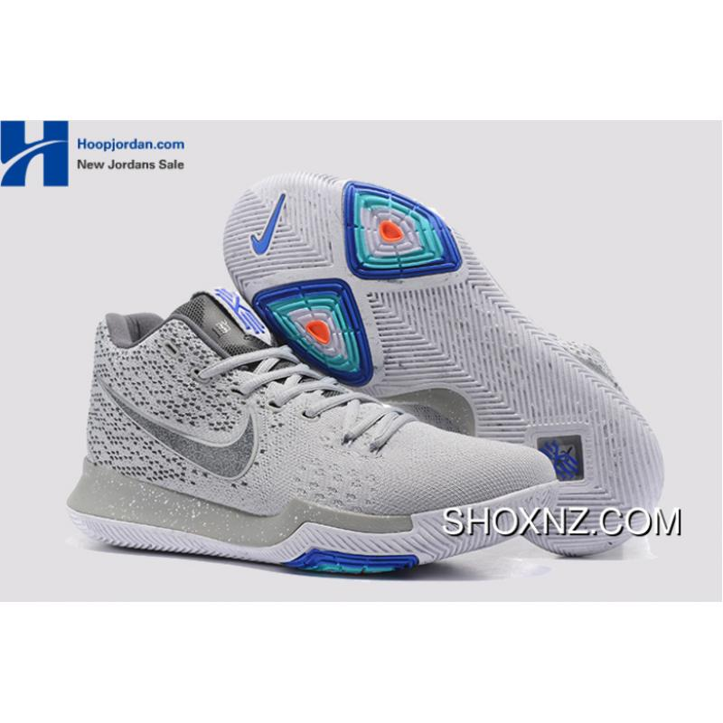 'Wolf Grey' Nike Kyrie 3 PE Men's Basketball Shoes Discount