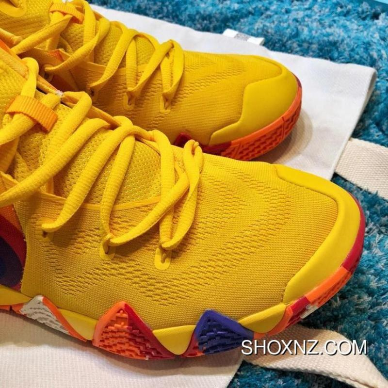 """sports shoes e9c16 5287a Nike Kyrie 4 """"Bruce Lee"""" Black Yellow 70s QS New Style"""