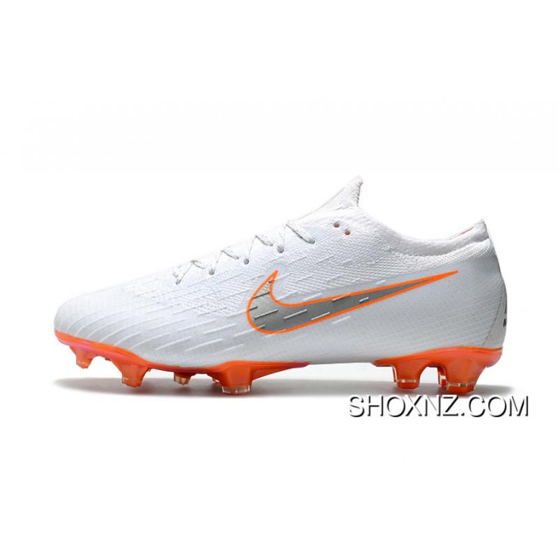 lowest price 52475 fdce5 Women Shoes Bottom Plating-Nike Mercurial 2.0 White Orange Knitting Flyknit  360 Technology Waterproof FG Nail Soccer Shoes Mercurial Vapor Assist Elite  FG ...